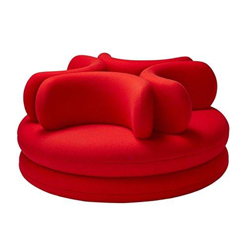 VerPan Easy Panton Sofa, rot Stoff Tonus 3 130 Ø160cm