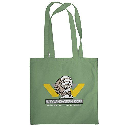 Texlab–Weyland Yutani Face Hugger–sacchetto di stoffa Oliva