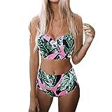 CICIYONER Gepolsterter Push-Up-BH für Damen mit hoher Taille Bikini-Set Badeanzug Badeanzüge Badebekleidung S-XXL