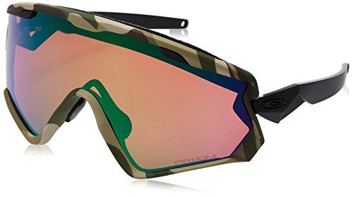 Oakley Wind Jacket 2.0Ski-Brille Unisex Uni Army Camo/Prizm Snow Jade Iridium - Oakley Von Linsen Jade