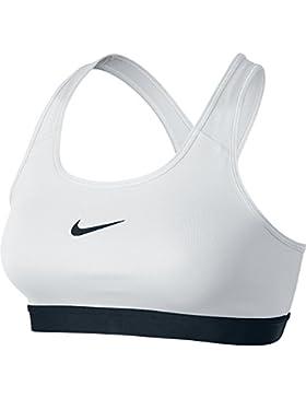 Nike BH Pro Classic Bra, Sujetador Deportivo Para Mujer, Blanco, M