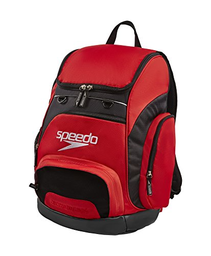 Speedo Teamster Mochila, Unisex Adulto, Red / Black, 35 l