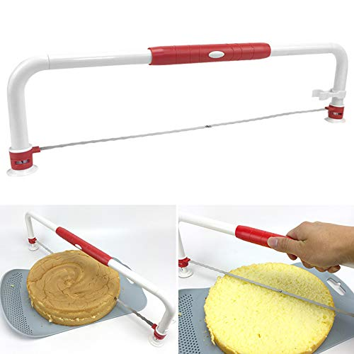 Fishyu Adjustable Wire Cake Leveler Foldable Bread Pizza Cutter Slicer DIY Cake Tool