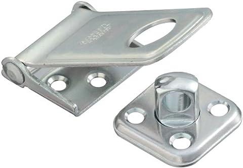 Stanley Hardware 9113–1/5,1cm Zink versilbert drehbar Post Sicherheit Haspe keine Schrauben