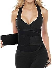 Kiwi prorrateada deportes al aire libre Shaperwear faja de cintura entrenador cuerpo caliente abdomen faja ropa interior corsé cinturón Negro negro Talla:mediano