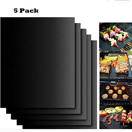 Good partner BBQ Lot de 5 Tapis de Cuisson réutilisables Barbecue 40 x 33 cm