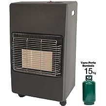 Estufa a Gas GLP 4200 W fragancia Ulisse 2 en1 con infrarrojos a 3 elementos,