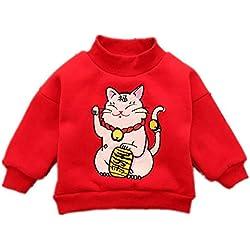 Pull Noel Enfants bébé garçon, Impression 3D Sweat À Manches Longues Toddler Filles Pulls Tops Plus Épais T-Shirt Unisexe Mignon Automne Hiver 0-4 Ans