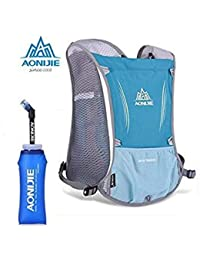 0e197e450246 Grass with Bottle   Aonijie Outdoor Sport 5L Backpack Marathon Running Bag  Riding Hydration Backpack Sport
