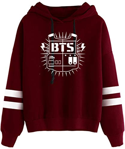 Bettydom Damen Winter Warm Bangtan Boys Fans Sweatshirt Suga Jimin Jin Jung Jook J-Hoffnung Rap-Monster V BTS für Frauen Rotsd L