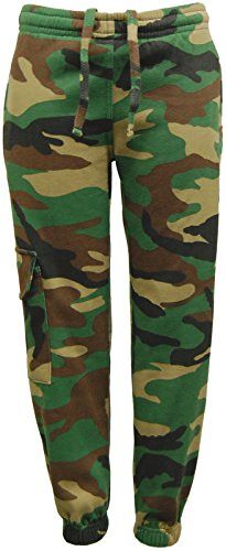 Kids-Childrens-GAME-Army-Camo-Camouflage-Woodland-Fleece-Jogging-Bottom-Jogger-Trouser
