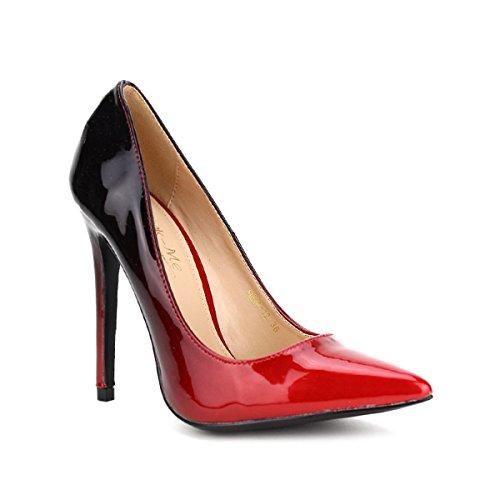 Cendriyon Escarpin Rouge Verni Kins Me Chaussures Femme Rouge