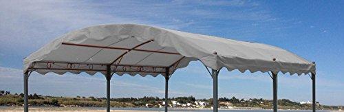 Ersatzdach zu Bogenpergola 3x4m Grau Pavillon Pergola