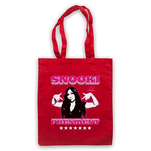 Inspiriert durch Jersey Shore Snooki For President Inoffiziell Umhangetaschen Rot