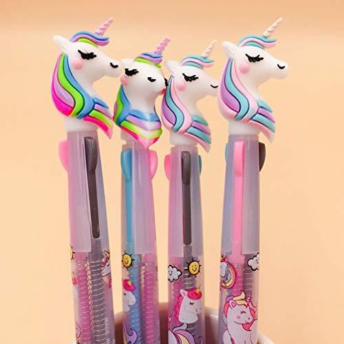 takestop Penna A Sfera Multicolor Unicorno Colori Colorati UNICORNI Kawaii Penne Idea Regalo BOMBONIERA Scuola Arcobaleno