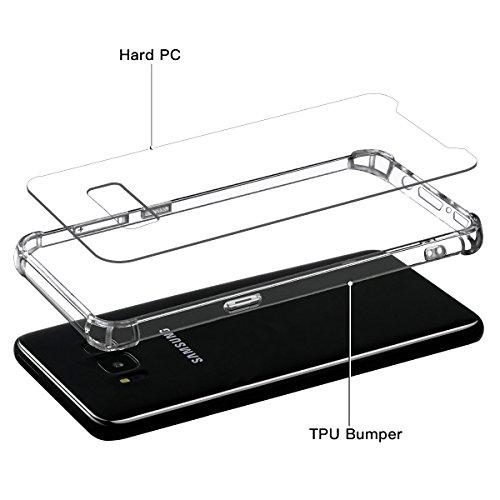 iPhone 8 Hülle, Fraelc iPhone 7 Ultra Dünne Transparent Schutzhülle Weich Silikon Bumper Case mit PC Hart Backcover Slimcase Handyhülle für Apple iPhone 7 / iPhone 8 Transparent