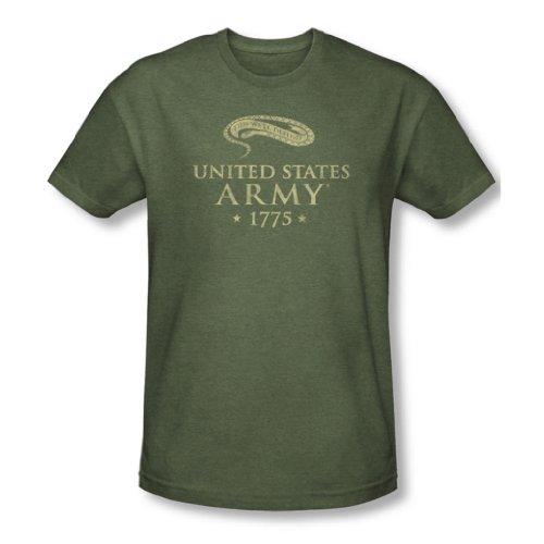 Army-We'Ll Defend-Maglietta a maniche corte da uomo verde Verde militare