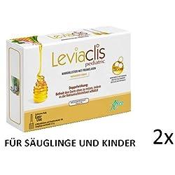 Verstopfung behandeln mit Leviaclis pediatric Sparset(2x6Mikroklistier) befreit den Darm indem es die Rektumschleimhaut schützt auch in der Schwangerschaft, Stilzeit und für Säuglinge gedacht