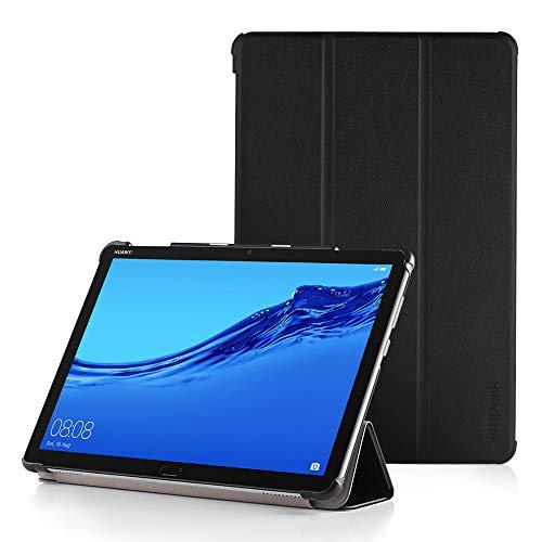 Simpeak Ersatz Huawei Mediapad M5 Lite Hülle 10 Schwarz, Ultra Dünn mit Standfunktion PU mit Standfunktion für Mediapad M5 Lite 10 Zoll Schutzhülle Cover Case -