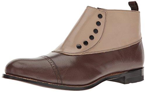 Stacy Adams Men's Madison Cap-Toe Spat Boot,Brown Multi,10 D US