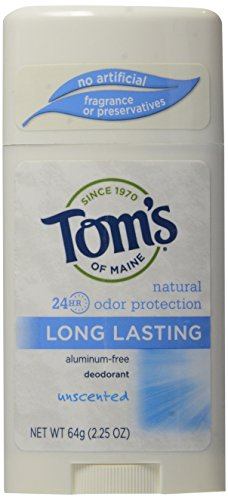 Tom's of Maine Long Lasting geruchsneutrales Deodorant-Stick - USA - Frisches Deodorant Unscented