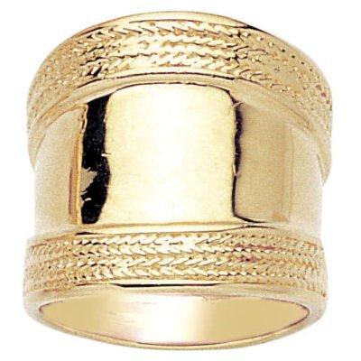 So Chic Gioielli - Anello Spesso Rome Antico Placcato Oro 750 - Misura 18
