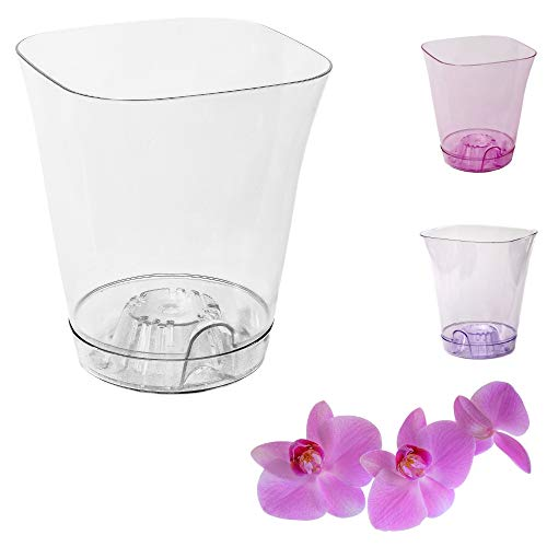 Orchideentopf Ornella Blumentopf Übertopf 11cm transparent verschiedene Farben