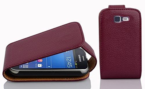 Cadorabo - Flip Style Hülle für Samsung Galaxy TREND LITE (GT-S7390) - Case Cover Schutzhülle Etui Tasche in BORDEAUX-LILA