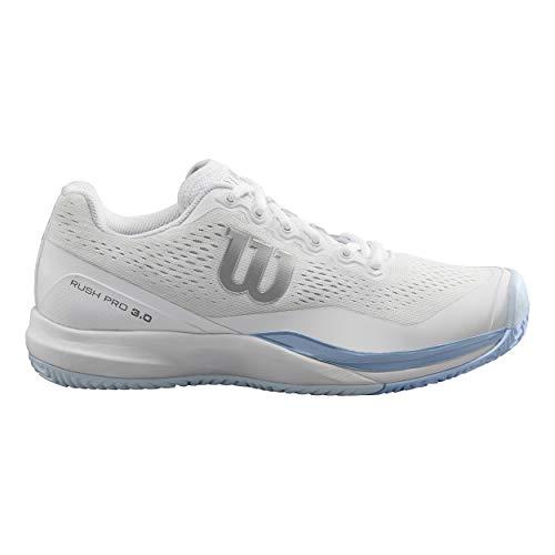 WILSON Rush PRO 3.0 W, Scarpe da Tennis Donna, Bianco Blu, 41 EU