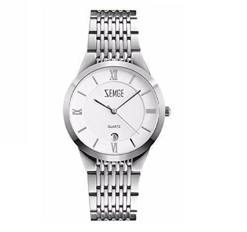 ZEMGE Mujer Reloj de cuarzo analógico FECHA resistente al agua reloj de pulsera unisex Business Casual simple vestido de diseño clásico DW MK estilo ZC0802