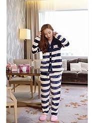 &zhou Parejas ropa de hogar y pijamas gruesos en invierno pijamas ocio Rebeca , male , m