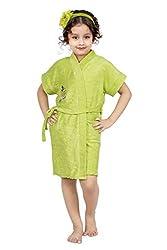 FeelBlue Terry Cloth Green Kids Bathrobe