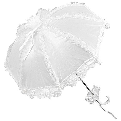 VON LILIENFELD Spitzenschirm Damen Mode Accessoire Brautschirm Hochzeitsschirm Bespannung aus...