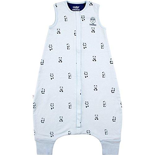 Woolino Baby Schlafsack mit Füßen öffnen Merino Wolle Walker 18-36 Monate Panda