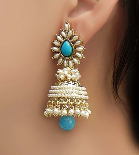 7303e24695c69 YouBella Jewellery Gold Plated Pearl Fancy Party Wear Jhumka / Jhumki  Earrings for Women and Girls