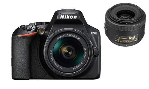 Nikon Kit Reflex numérique D3500 + AF-P DX 18-55 f/3.5-5.G VR Noir + Objectif AF-S DX 35 mm f/1,8G