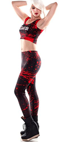 THENICE Damen Sexy Elastic Strumpfhosen Leggings Pants Blood stains