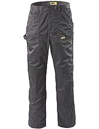Hommes pantalons court / longue de travail poches multiples drill KG cargo [ Noir, Gris, Vert, Kaki]