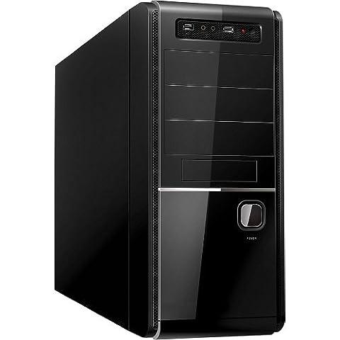 Unyka 51941 - Caja de ordenador de sobremesa ATX (fuente de alimentación de 500 W) Negro