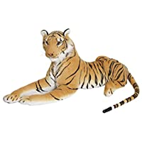 MTS Large Giant Siberian Bengal Wild Tiger Soft Plush Stuffed Cuddly Toy up to 150 cm (103 - 150 cm Brown Tiger)