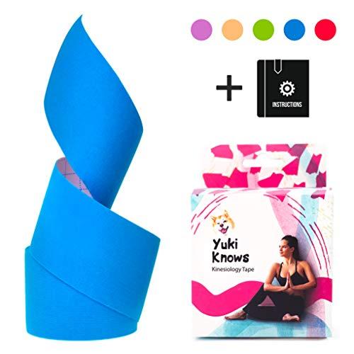YukiKnows® Kinesiologie Tape für EMPFINDLICHE HAUT - Beste Unterstützung für Knie, Schulter, Nacken und Muskel | Hypoallergen mit Medizinische Klebstoff | 5cm x 5m Rollen Box