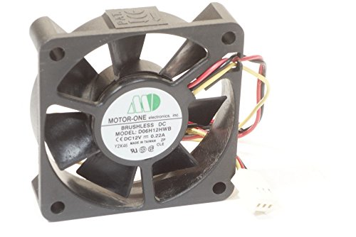 Motor One D06H12HWB 60x60x15mm Ball Bearing Cooling Kühler Fan 3-Pin DC12V 0.22A (Generalüberholt) Ball Bearing Fan Motor