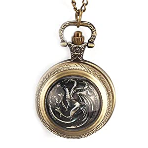 Unique Pocket Watch, Game of Thrones US TV Series Theme Pocket Watch for Men Women, Commemorative Pocket Watch Gift Christmas Gift