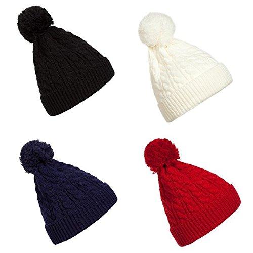 Bazaar Outdoor Frauen Wolle Hut Kappen Winter warme Häkelarbeitknit Beret Ski Beanie Kugel Beanie Winter Ski Hut