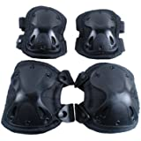 CVLIFE Black Tactical Sport Outdoor Military Knee & Elbow Protection Pads Support Set