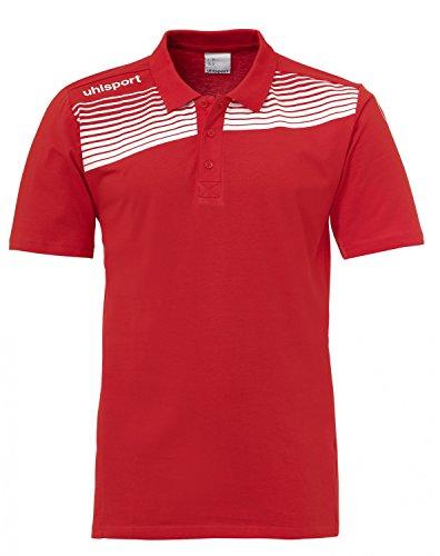 Uhlsport Teamsport Ligue 2Polo pour Homme Multicolore - Rouge/Blanc