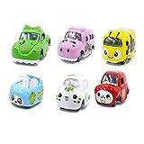 Mengger Spielzeugautos Mini Modellautos Fahrzeuge Kleines Set Metall Geschenk für Jungen Mädchen LKW Auto Liebhaber Kinder 6 Stücke (A)