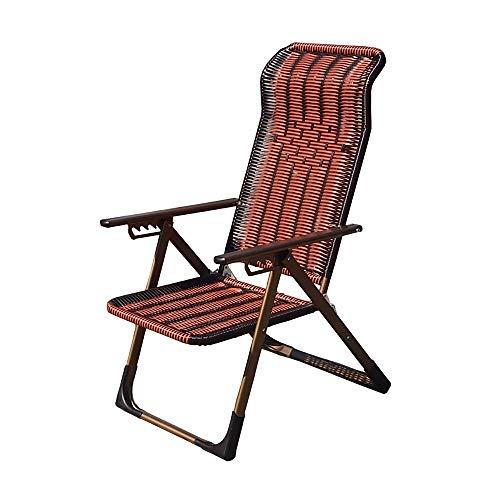 Guolipin Holz Retro Stuhl Folding Outdoor Einstellbare Rocker Schwerelosigkeit Sitz Kopfstütze Camping Angeln Patio Deck Garten Schaukelstuhl (Farbe : Braun, Größe : 64 * 73 * 100cm) -