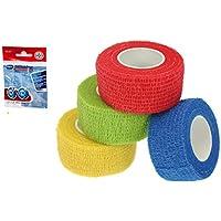 4er Set cohesive Bandage, Haftbandage, elastischer Fixierverband, Verband, elastische Binde 2,5cm - 4 Farben sortiert preisvergleich bei billige-tabletten.eu