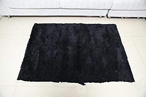 New day®-The hall bathroom MATS carpet floor MATS 60*110 90*140 , black , about 90*140